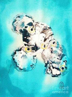 Conversation Mixed Media - Fugu's At Forty Fathoms by Roberto Prusso