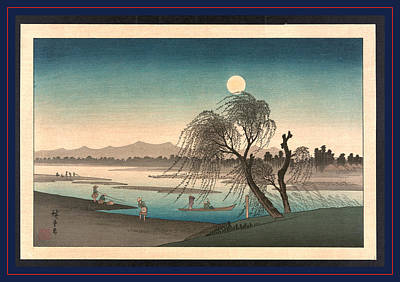 River Scenes Drawing - Fukeiga, Ando Between 1900 And 1940, From An Earlier Print by Utagawa Hiroshige Also And? Hiroshige (1797-1858), Japanese