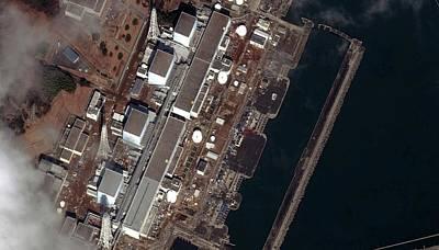 Fukushima Nuclear Power Plant Print by Digital Globe