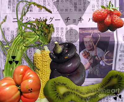 Asparagus Digital Art - Fukushima Veggies by Megan Dirsa-DuBois
