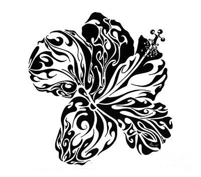 Uplifting Drawing - Full Bloom Of Hope by Anushree Santhosh