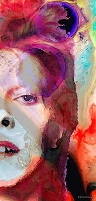 Full Color - David Bowie Art Print by Sharon Cummings