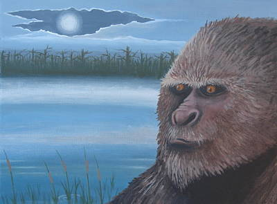 Full Moon At Boggy Creek Original by Stuart Swartz