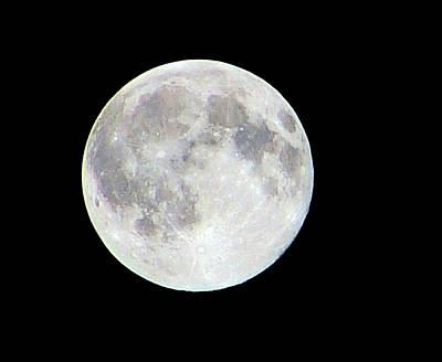 Photograph - Full Moon by Faouzi Taleb