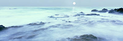 Full Moon Presides Over The Baja Print by Panoramic Images