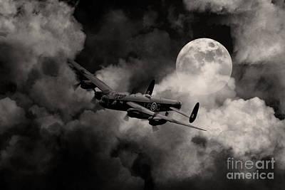 Lincoln Images Digital Art - Full Moon Raid by J Biggadike