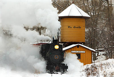 Train In The Winter Photograph - Full Steam Ahead by Ken Smith