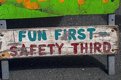 Third Photograph - Fun First by Garry Gay