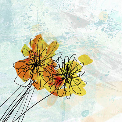 Fun Flowers  Print by Ann Powell