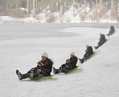 Snowmobile Photograph - Fun In The Snow by Susan Candelario