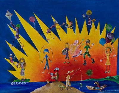 Painting - Fun In The Sun by Virginia Bond