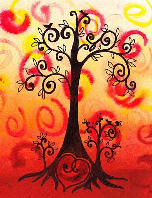 Nature Abstracts Painting - Fun Tree Of Life Impression Vi by Irina Sztukowski