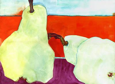 Interior Still Life Painting - Fundamental Pears Still Life by Blenda Studio
