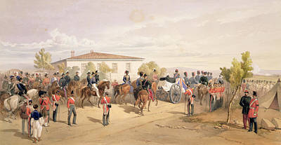 Funeral Cortege Of Lord Raglan Leaving Print by William 'Crimea' Simpson