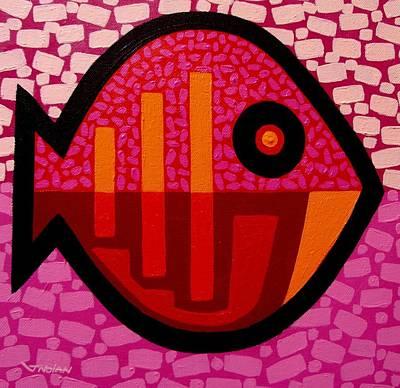 Tropical Fish Painting - Funkadelic Fish II by John  Nolan