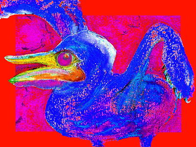 Multi Colored Painting - Funky Baby Pelican Bird Mommy Feed Me Art Prints by Sue Jacobi