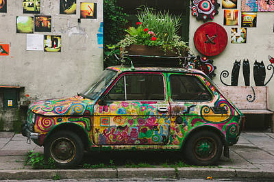 Cracow Photograph - Funky Car by Pati Photography
