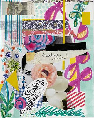 Abstract Mixed Media - Funky Collage by Rosalina Bojadschijew