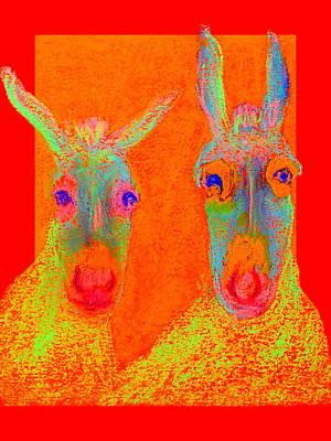 Funky Donkeys Art Prints Print by Sue Jacobi