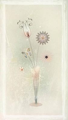 Funky Spring Bouquet Print by Bernie  Lee