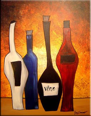 Gino Painting - Funky Vino 3 by Gino Savarino