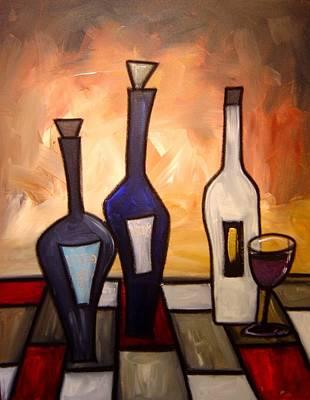 Gino Painting - Funky Wine 15 by Gino Savarino