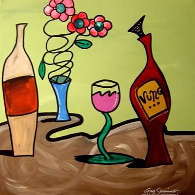Gino Painting - Funky Wine 18 by Gino Savarino