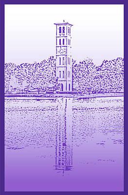 Furman Bell Tower Print by Greg Joens