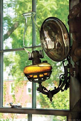 Furniture - Lamp - An Oil Lantern Print by Mike Savad
