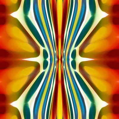 Red Abstract Digital Art - Fury Pattern 6 by Amy Vangsgard