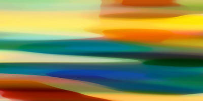 Abstract Movement Digital Art - Fury Seascape II by Amy Vangsgard