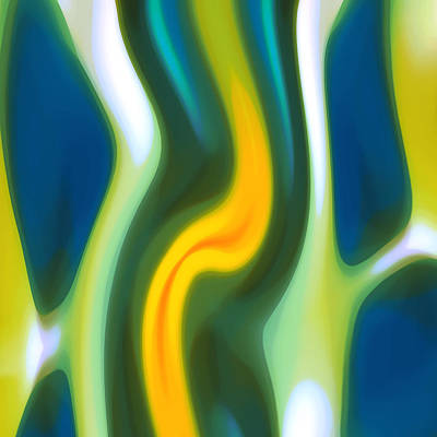Abstract Pattern Painting - Abstracy Tide 8 by Amy Vangsgard