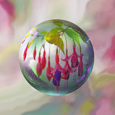 Sphere Painting - Fuschia Say by Robin Moline