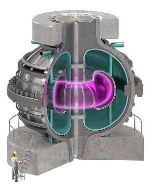 Fusing Photograph - Fusion Reactor by Claus Lunau