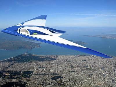 Future Flying Wing Aircraft Print by Nasa/northrop Grumman