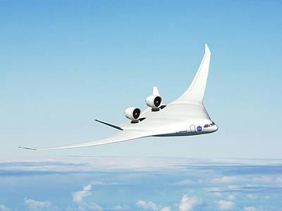 Future Hybrid Aircraft Print by Nasa/boeing