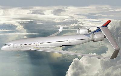 Future Photograph - Future Hybrid Aircraft by Nasa/lockheed Martin