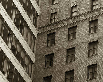 Futures Past - Architecture Abstract  Print by Steven Milner