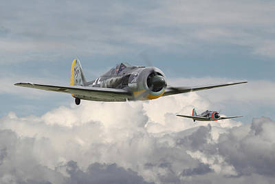 Fw 190 - Butcher Bird Print by Pat Speirs