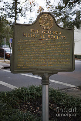 Ga-25-004 The Georgia Medical Society Print by Jason O Watson