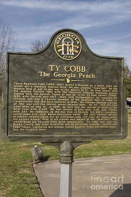 Ga-59-10 Ty Cobb The Georgia Peach Print by Jason O Watson