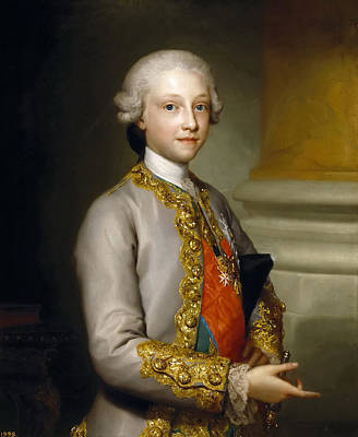Anton Raphael Mengs Painting - Gabriel De Bourbon. Infante Of Spain by Anton Raphael Mengs
