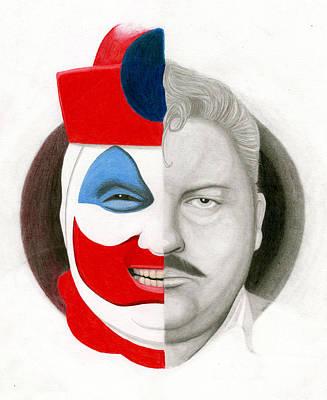 Serial Killer Drawing - Gacy The Clown by Kris Milo