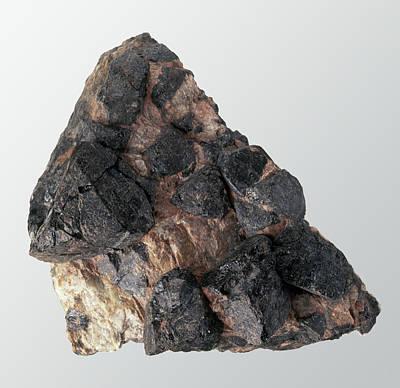 Gadolinite In Rock Groundmass Print by Dorling Kindersley/uig