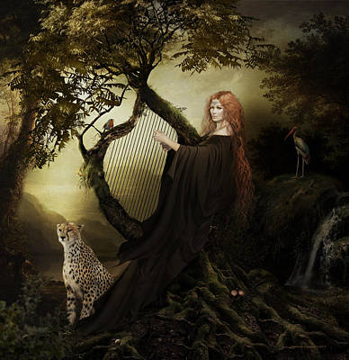 Leopard Mixed Media - Gaia Greek Goddess by Shanina Conway