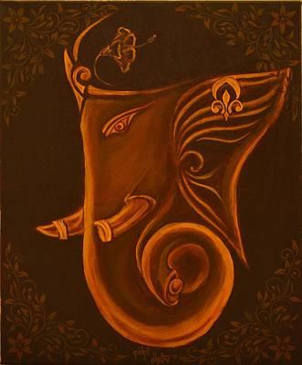 Vinayaka Painting - Gajanana by Nikhil Dhotre