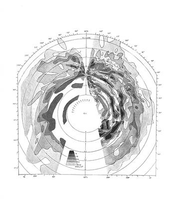 Galactic Hydrogen Distribution Print by Royal Astronomical Society