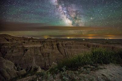 Pinnacle Overlook Photograph - Galactic Pinnacles by Aaron J Groen