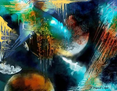 Galactique  Print by Francoise Dugourd-Caput