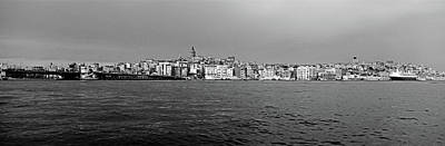 Galata Bridge And Buildings On Golden Print by Panoramic Images